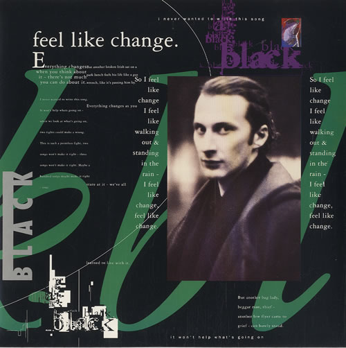 "Black Feel Like Change 7"" vinyl single (7 inch record) UK BAK07FE507836"