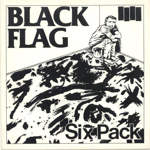 "Black Flag Six Pack - White Vinyl 10"" vinyl single (10"" record) US BD710SI689932"