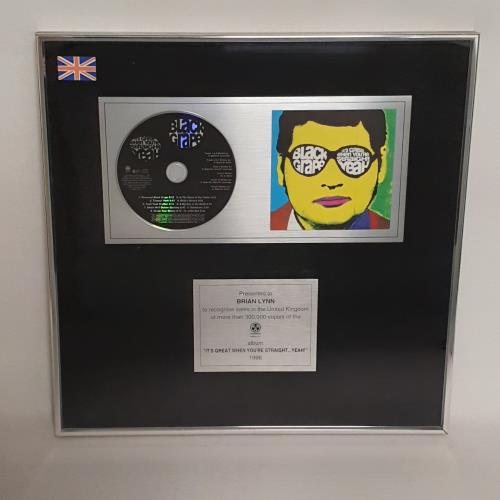 Black Grape It's Great When You're Straight Yeah award disc UK BGRAWIT173200