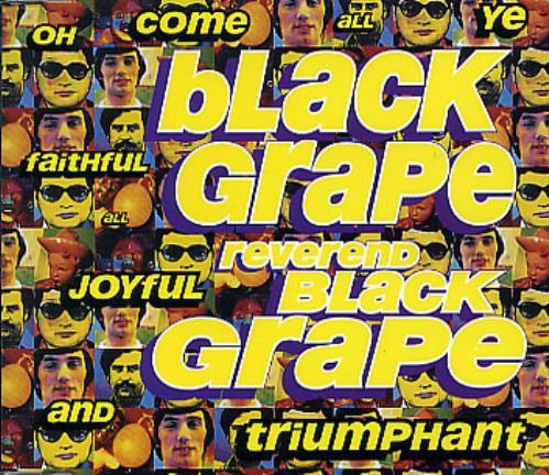 "Black Grape Reverend Black Grape CD single (CD5 / 5"") UK BGRC5RE100321"
