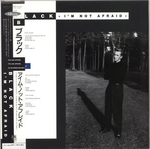 "Black I'm Not Afraid 12"" vinyl single (12 inch record / Maxi-single) Japanese BAK12IM262391"