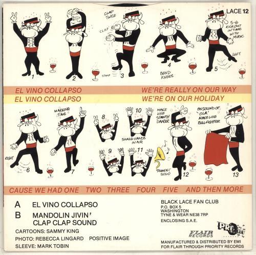 "Black Lace (UK) El Vino Collapso 12"" vinyl single (12 inch record / Maxi-single) UK LCE12EL715809"