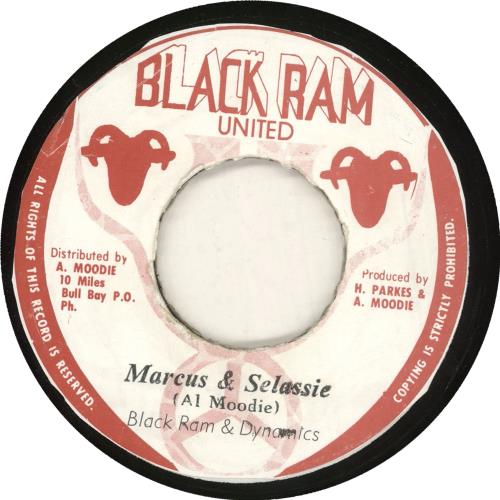 "Black Ram & Dynamics Marcus & Selassie 7"" vinyl single (7 inch record) Jamaican 0MH07MA733502"