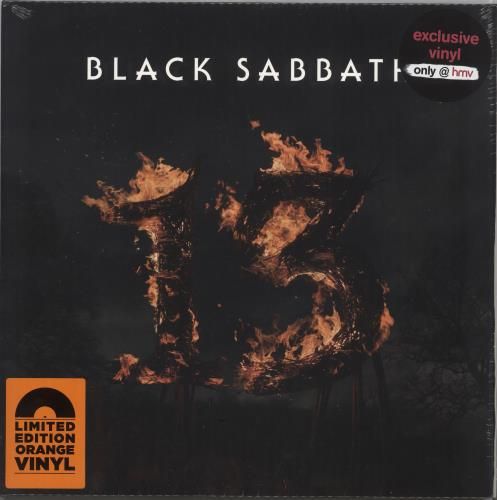 Black Sabbath 13 (Thirteen) - Orange Vinyl - Sealed 2-LP vinyl record set (Double Album) UK BLK2LTH730535