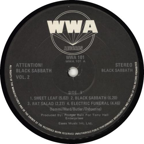 Black Sabbath Attention! Black Sabbath Volume Two vinyl LP album (LP record) Dutch BLKLPAT695692