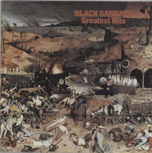 Black Sabbath Greatest Hits - Textured Sleeve vinyl LP album (LP record) UK BLKLPGR321849