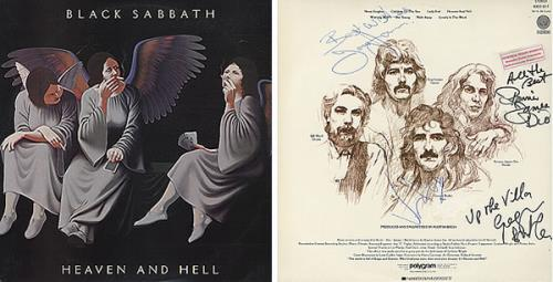 black sabbath heaven and hell autographed brazilian vinyl lp album lp record 319127. Black Bedroom Furniture Sets. Home Design Ideas