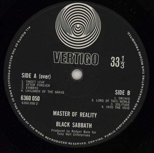 Black Sabbath Master Of Reality - 1st + Poster - EX vinyl LP album (LP record) UK BLKLPMA684746