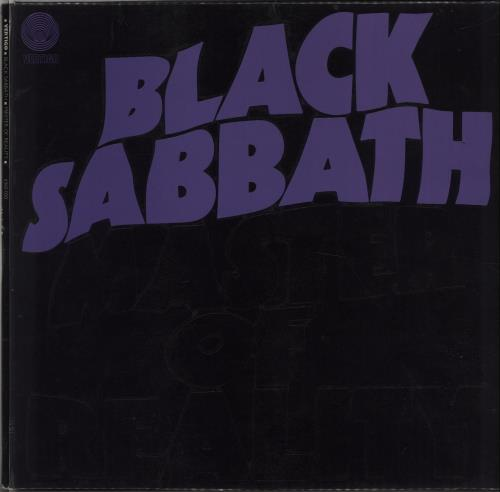 Black Sabbath Master Of Reality - 1st + Poster - VG vinyl LP album (LP record) UK BLKLPMA578914