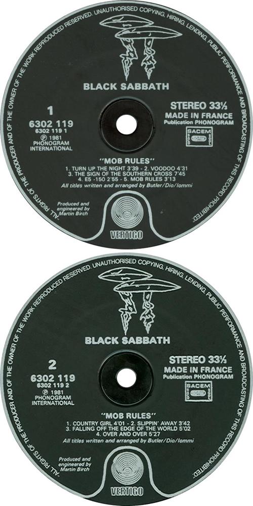 Black Sabbath Mob Rules vinyl LP album (LP record) UK BLKLPMO226203