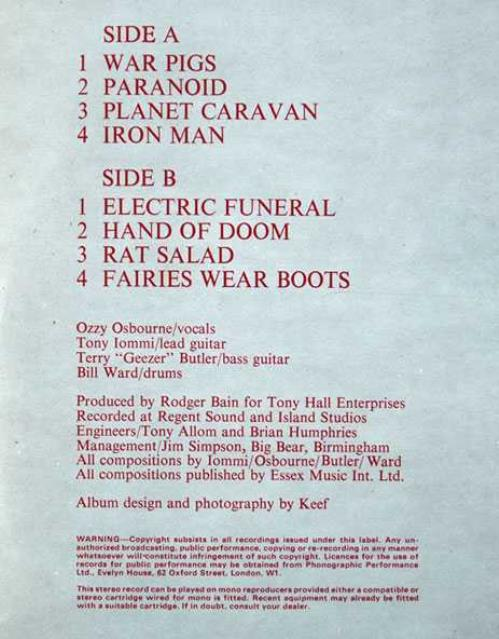 Black Sabbath Paranoid - 1st vinyl LP album (LP record) UK BLKLPPA63516
