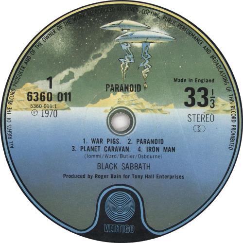 Black Sabbath Paranoid - 4th - WWA Stickered Sleeve vinyl LP album (LP record) UK BLKLPPA720772
