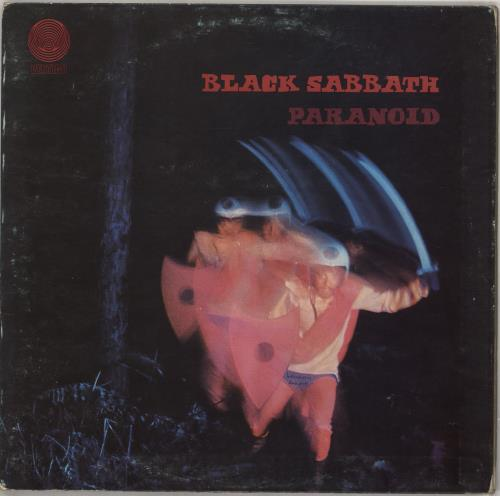 Black Sabbath Paranoid - VG/EX vinyl LP album (LP record) Italian BLKLPPA742136