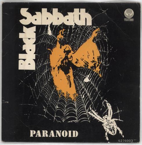 "Black Sabbath Paranoid EP 7"" vinyl single (7 inch record) Portugese BLK07PA727713"