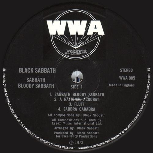 Black Sabbath Sabbath Bloody Sabbath - 3rd - VG vinyl LP album (LP record) UK BLKLPSA567000