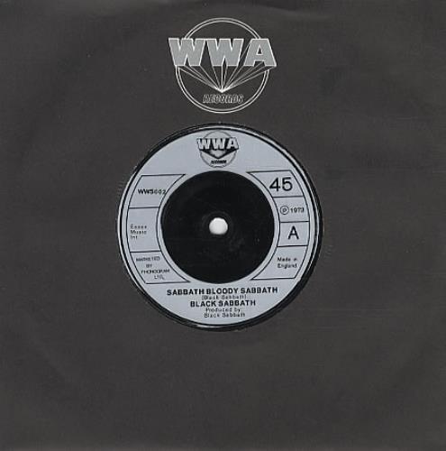 "Black Sabbath Sabbath Bloody Sabbath 7"" vinyl single (7 inch record) UK BLK07SA334517"