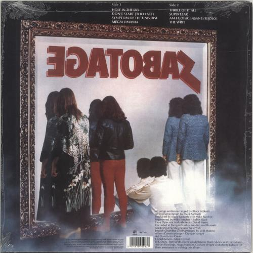 Black Sabbath Sabotage + Bonus CD - Sealed vinyl LP album (LP record) UK BLKLPSA690668