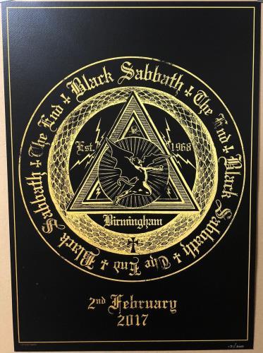 Black Sabbath The End - Birmingham 2nd Feb 2017 poster UK BLKPOTH706104