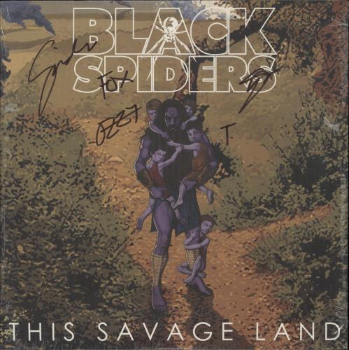 Black Spiders This Savage Land - Purple Vinyl - Autographed - Sealed vinyl LP album (LP record) UK O3GLPTH749115