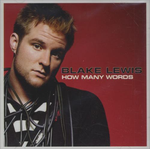 "Blake Lewis How Many Words CD single (CD5 / 5"") US EWIC5HO431846"