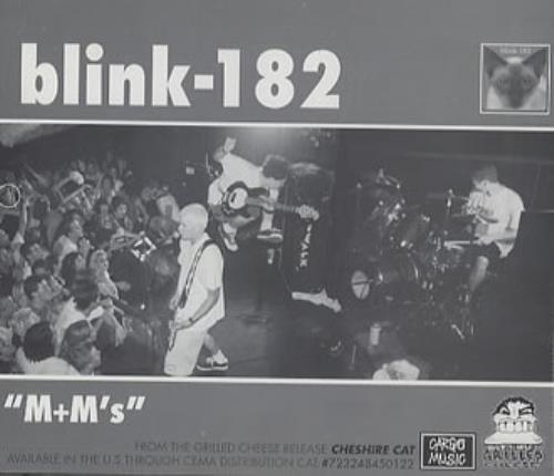 """Blink 182 M+M's CD single (CD5 / 5"""") US B18C5MM352713"""