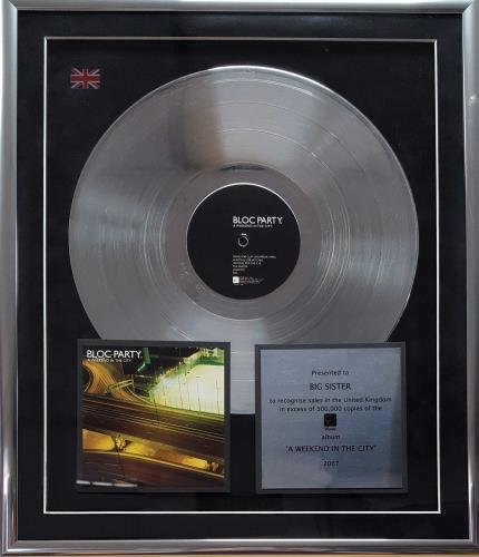 Bloc Party A Weekend In The City award disc UK BB5AWAW670399