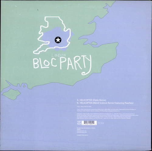 "Bloc Party Helicopter 12"" vinyl single (12 inch record / Maxi-single) US BB512HE352002"