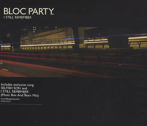 "Bloc Party I Still Remember CD single (CD5 / 5"") UK BB5C5IS395562"