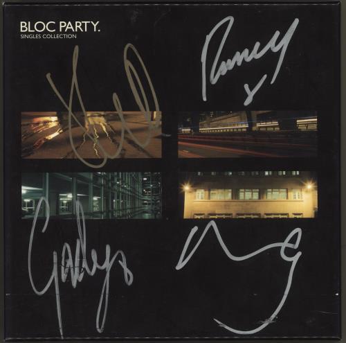 Bloc Party Singles Collection - Autographed Vinyl Box Set UK BB5VXSI714434