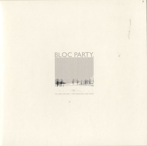 "Bloc Party So Here We Are - Grey Vinyl 7"" vinyl single (7 inch record) UK BB507SO315185"
