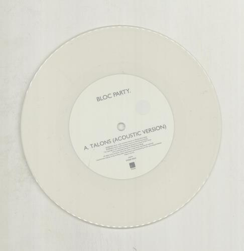 "Bloc Party Talons - White vinyl 7"" vinyl single (7 inch record) UK BB507TA449828"
