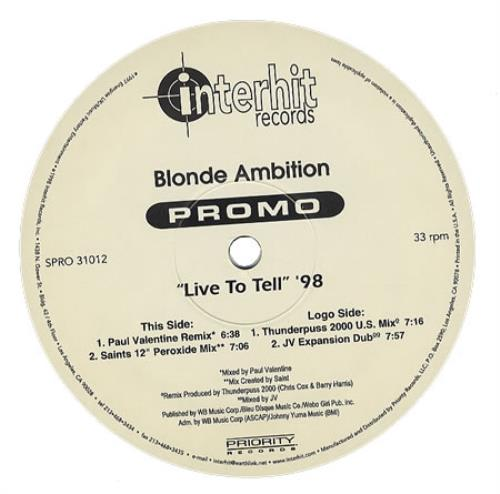 "Blonde Ambition Live To Tell '98 12"" vinyl single (12 inch record / Maxi-single) US NDE12LI367794"
