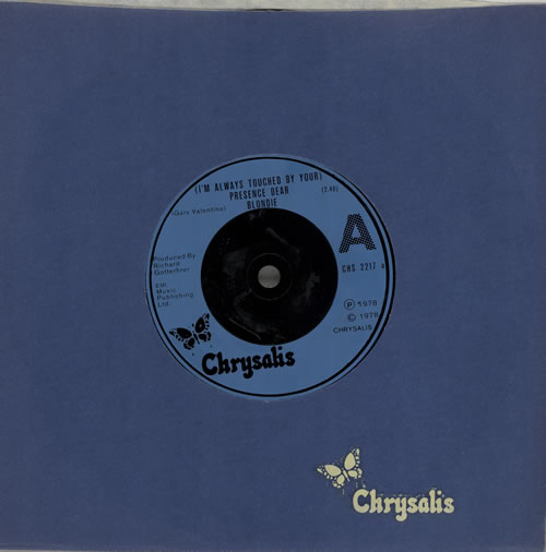 """Blondie (I'm Always Touched By Your) Presence, Dear - Inj 7"""" vinyl single (7 inch record) UK BLO07IM575686"""