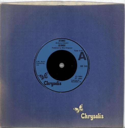 """Blondie Atomic 7"""" vinyl single (7 inch record) UK BLO07AT701754"""
