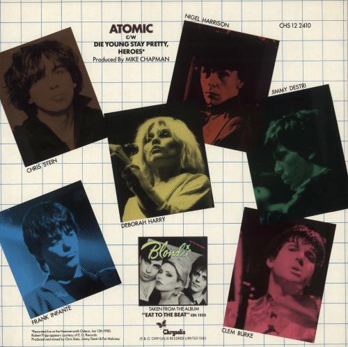 "Blondie Atomic 12"" vinyl single (12 inch record / Maxi-single) UK BLO12AT736601"