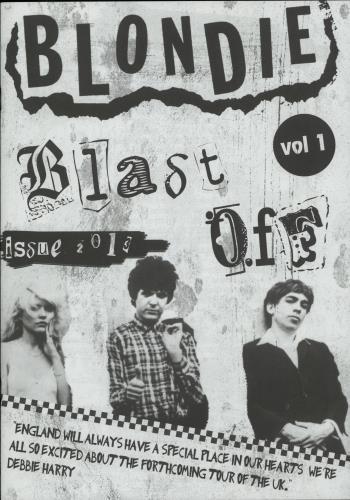 Blondie Blast Off Vol. 1 tour programme UK BLOTRBL652672