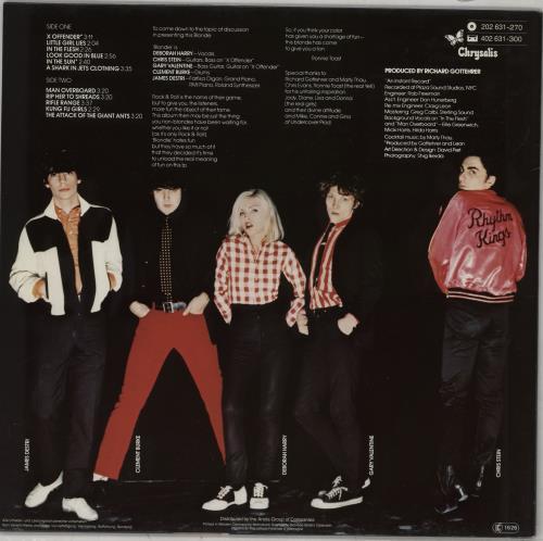 Blondie Blondie vinyl LP album (LP record) German BLOLPBL763608