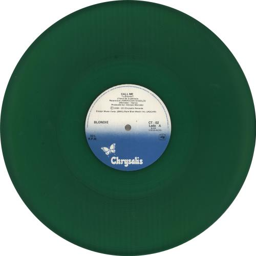 "Blondie Call Me - Green Vinyl 12"" vinyl single (12 inch record / Maxi-single) Mexican BLO12CA716455"
