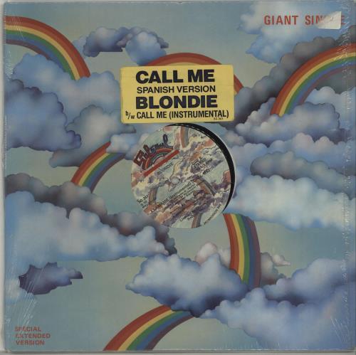 "Blondie Call Me - Spanish Version 12"" vinyl single (12 inch record / Maxi-single) US BLO12CA11516"