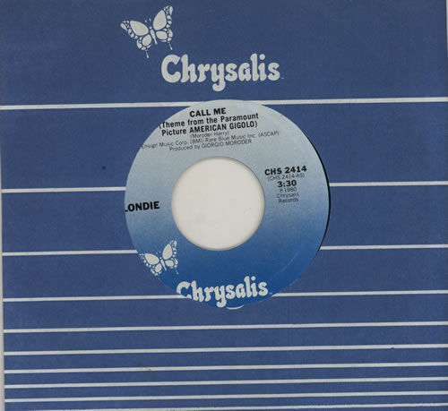 "Blondie Call Me 7"" vinyl single (7 inch record) US BLO07CA572960"