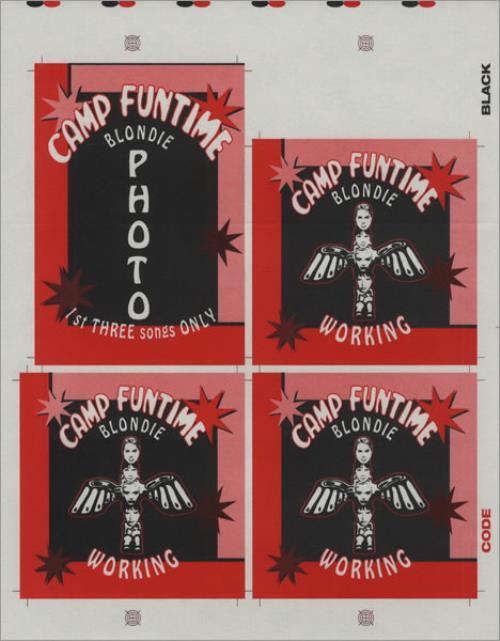 Blondie Camp Funtime Tour Passes - Uncut Sheet tour pass US BLOTPCA428390