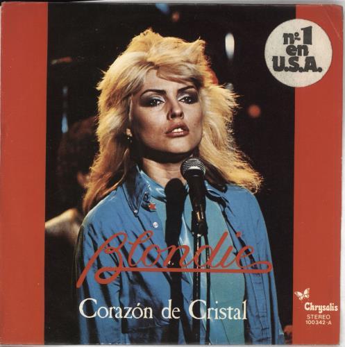 "Blondie Corazon De Cristal 7"" vinyl single (7 inch record) Spanish BLO07CO170709"
