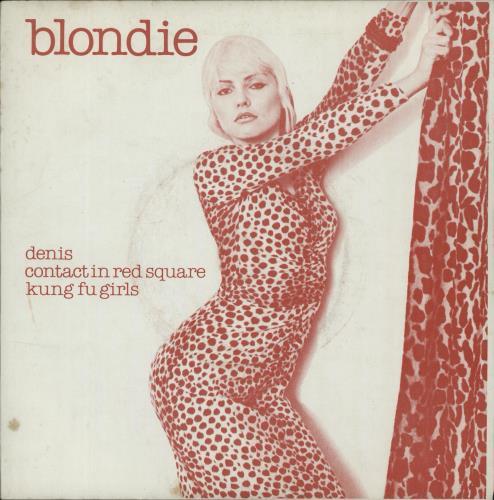 """Blondie Denis (Denee) - Red Sleeve 7"""" vinyl single (7 inch record) UK BLO07DE109840"""