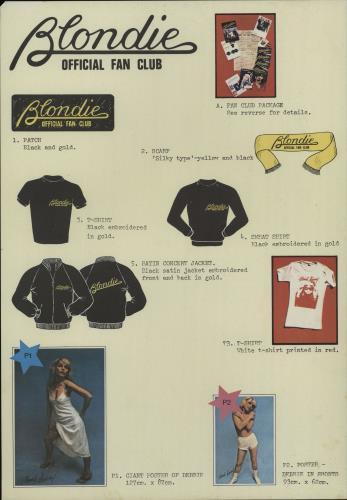 Blondie Eat To The Beat + Fan Club Insert vinyl LP album (LP record) UK BLOLPEA662076