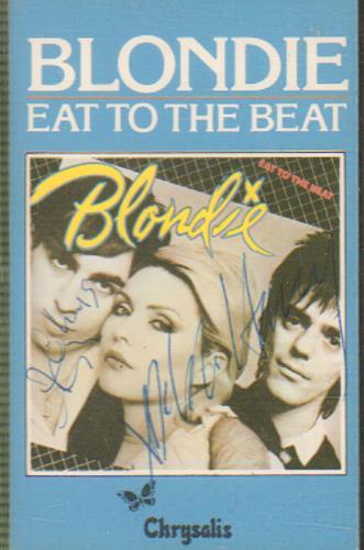 Blondie Eat To The Beat - Autographed cassette album UK BLOCLEA657787