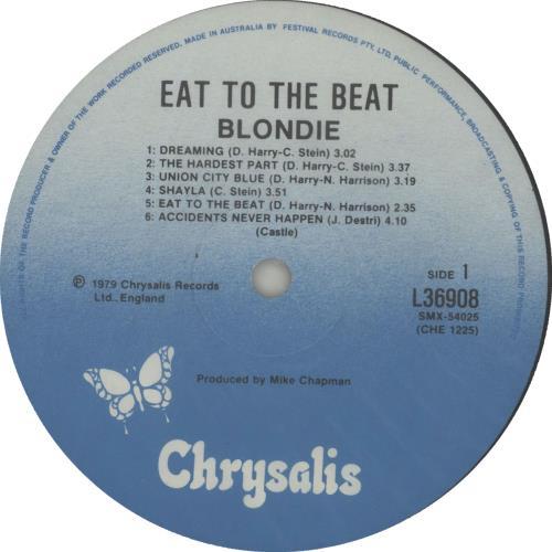 Blondie Eat To The Beat vinyl LP album (LP record) Australian BLOLPEA310250