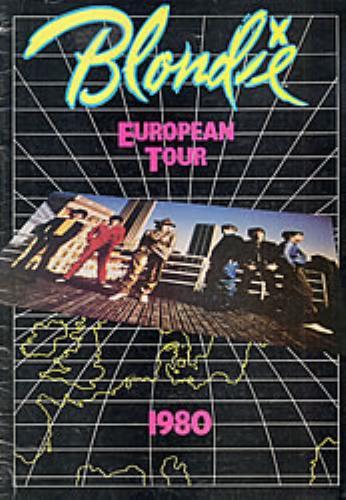 Blondie European Tour 1980 tour programme UK BLOTREU80556
