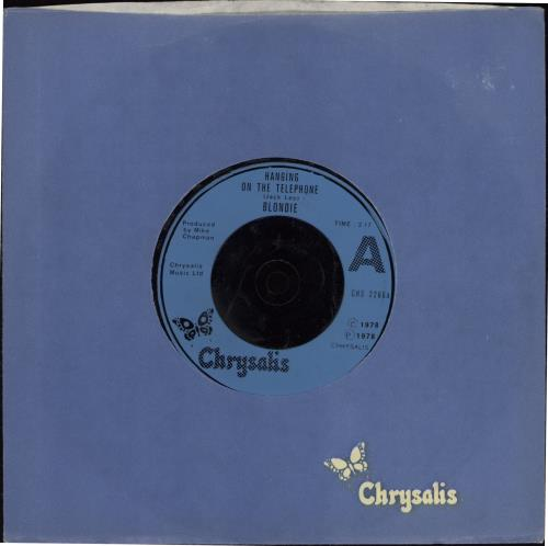 """Blondie Hanging On The Telephone - Injection Labels 7"""" vinyl single (7 inch record) UK BLO07HA769555"""