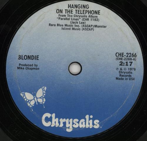 "Blondie Hanging On The Telephone - Soild 7"" vinyl single (7 inch record) US BLO07HA752394"