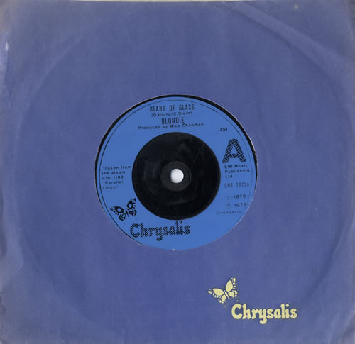 """Blondie Heart Of Glass - Injection Label 7"""" vinyl single (7 inch record) UK BLO07HE565426"""
